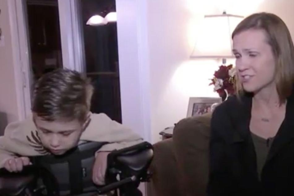 Nancy Coyne mit ihrem schwer kranken Sohn Garrett.