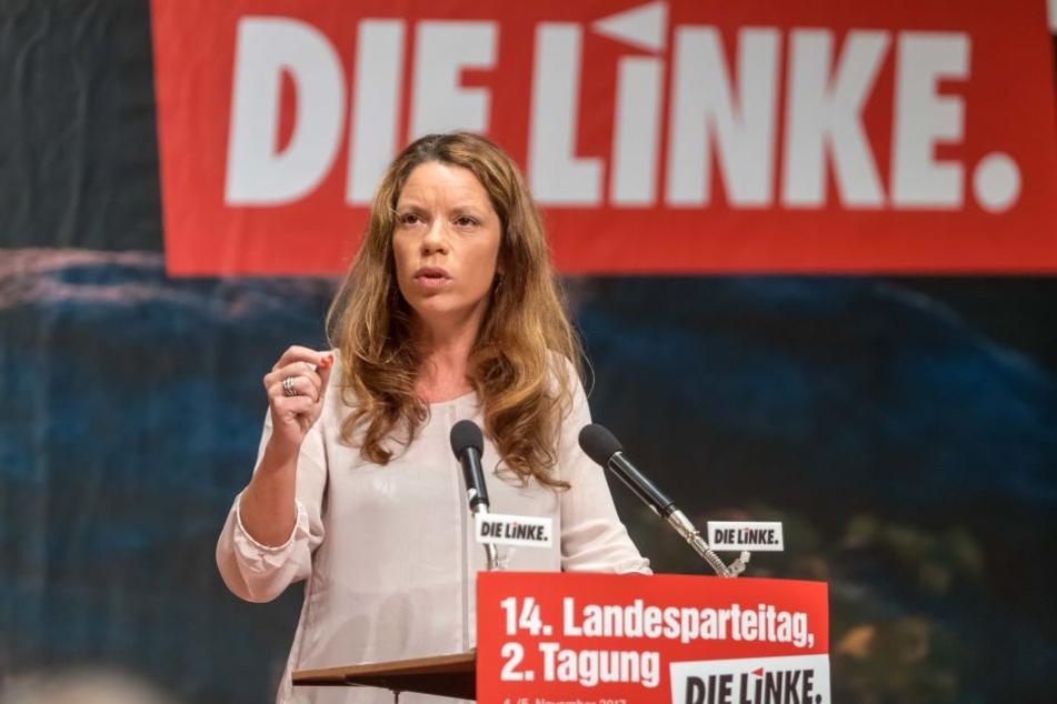 Antje Feiks (38) ist die neue Chefin der sächsischen Linken.