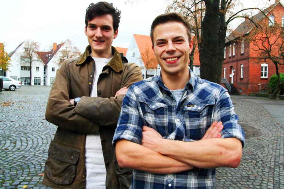 Sebastian (19, li.) und Jan (23) zeigten Zivilcourage.