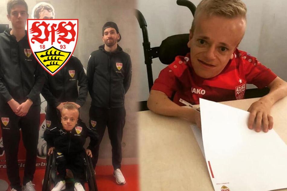 """eSportler des VfB Stuttgart lebt im Rollstuhl seinen Traum: """"Niemals aufgeben!"""""""