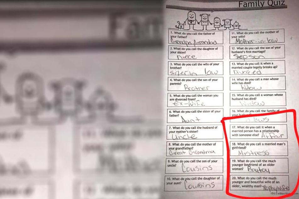 Eltern fassungslos! 11-Jährige müssen Test mit diesen pikanten Fragen beantworten