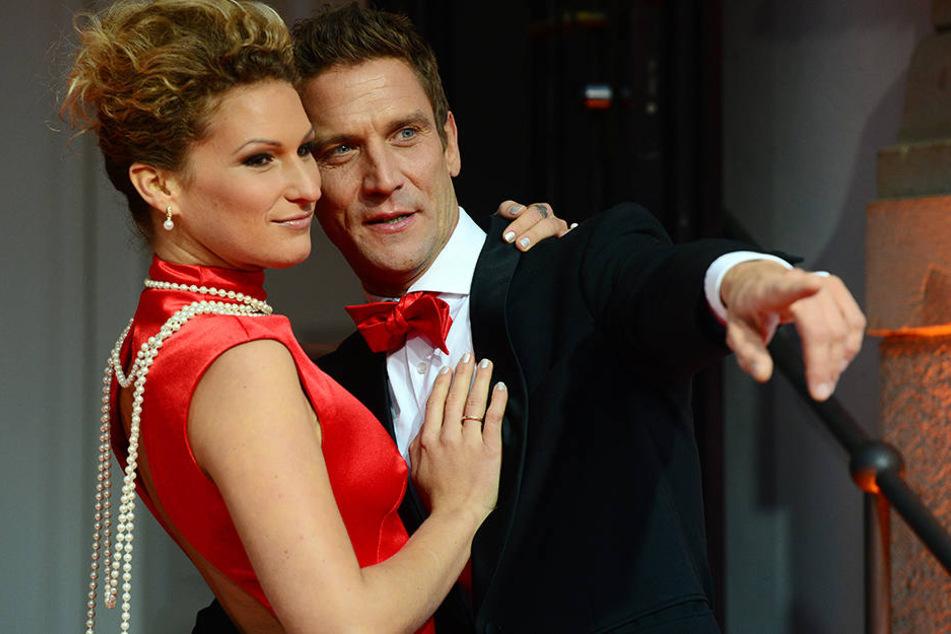 """Janni Hönscheid und Peer Kusmagk lernten sich bei der RTL-Dating-Show """"Adam sucht Eva"""" kennen."""