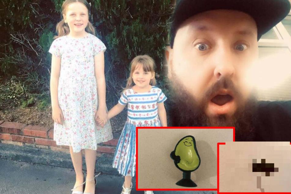 Papa kauft Töchtern Spielzeug und ist auf den zweiten Blick schockiert!