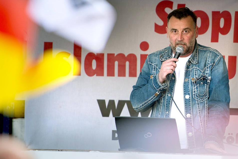 Lutz Bachmann (43) hat die Stadt Dresden verklagt.