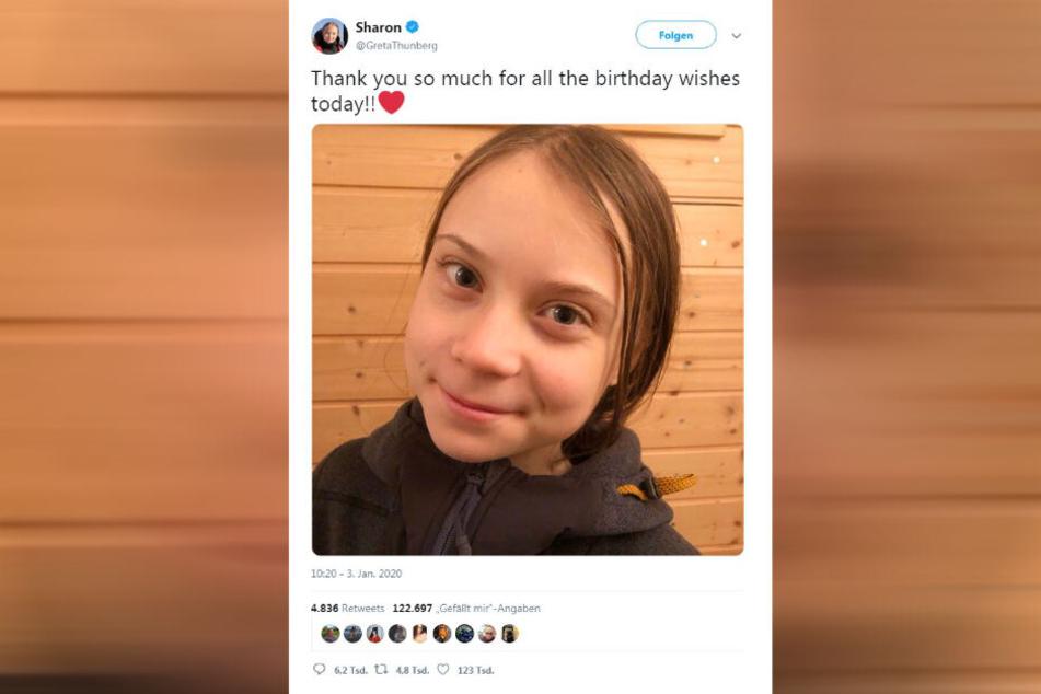 Wo kommt denn der Humor plötzlich her? Greta Thunberg beweist an ihrem 17. Geburtstag, dass es ihn gibt!