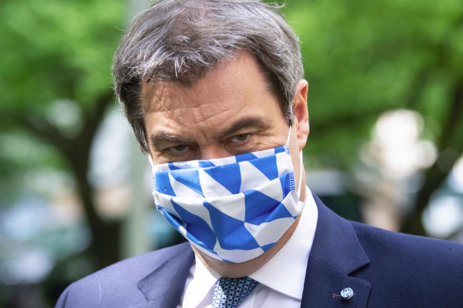 Markus Söder (CSU) hat den gemeinsamen Kampf gegen das Coronavirus als Marathonlauf bezeichnet.