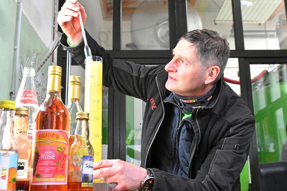 Mit Salbei und Kirsch-Minze: Sächsischer Obstkelterer erfindet Saft neu