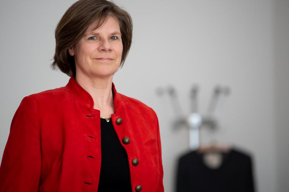 Ulrike Protzer bei einer Pressekonferenz der bayerischen Universitätskliniken.