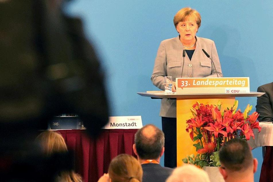 Angela Merkel wurde auf dem Parteitag heftig beschimpft.
