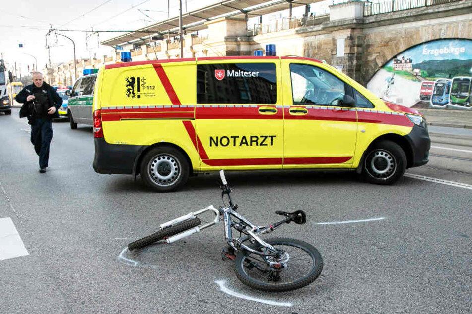 Die Unfallstelle in der Friedrichstadt an der Könneritzstraße/Ecke Laurinstraße.