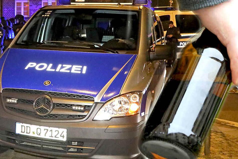 In der Nacht wurde ein Polizeiauto in der Neustadt mit einer Bierflasche attackiert (Symbolbild).