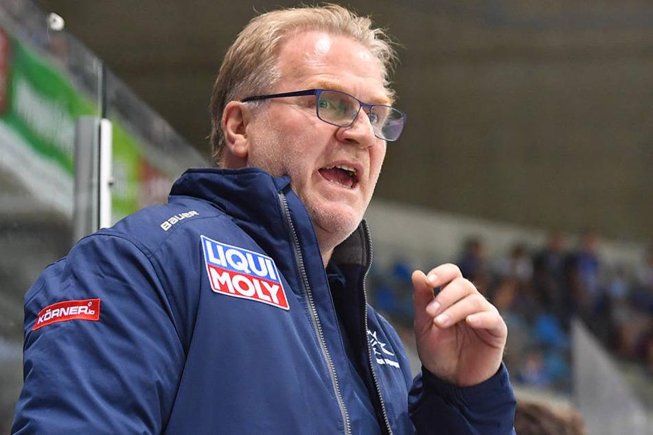 Franz Steer, Eislöwen-Trainer.