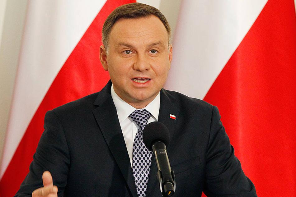 Der polnische Präsident Andrzej Duda.