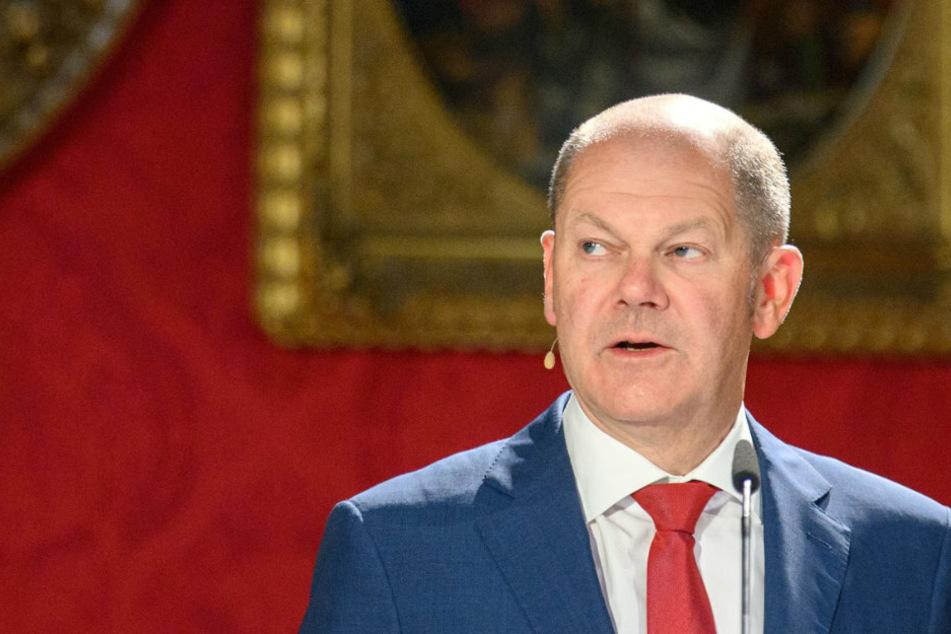Vizekanzler Scholz hält Vortrag über Deutschland in der Corona-Krise