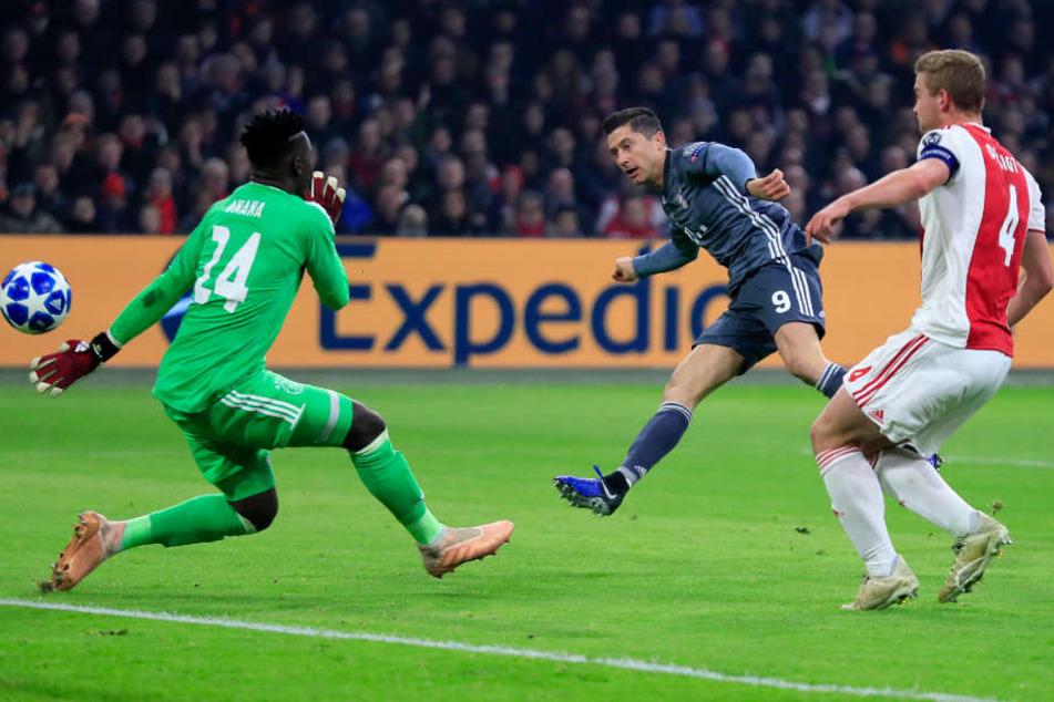 Robert Lewandowski erzielte die 1:0 Führung für die Bayern.