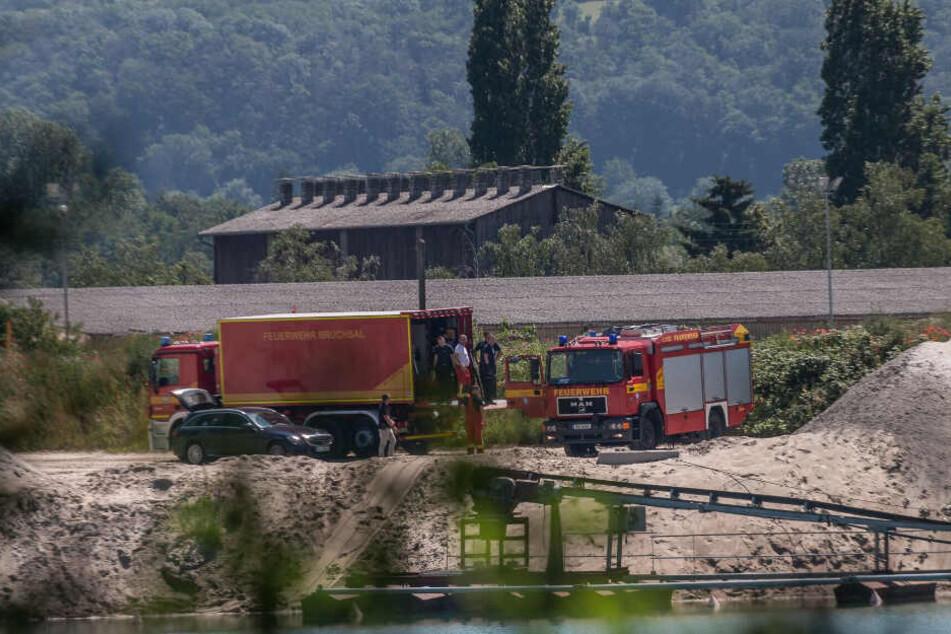 Die Feuerwehr hat am Montagmorgen die Leiche geborgen.