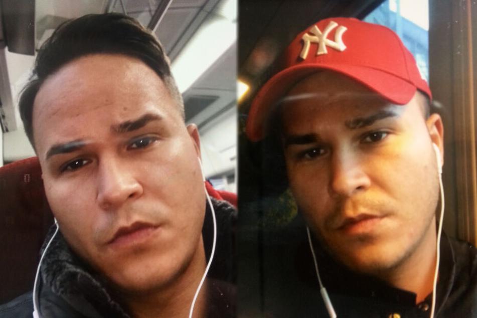 Mit diesen beiden Fotos sucht die Polizei nach dem Vermissten Baris Karabulut.