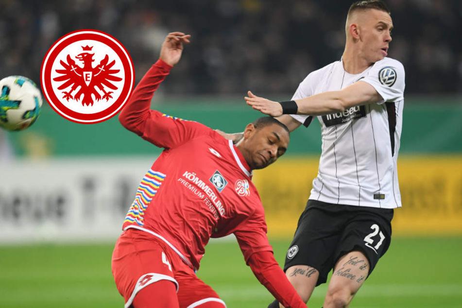 Wolf (rechts) erlitt im Pokalspiel gegen Mainz eine schwere Schulterprellung. Wie lange er ausfällt bleibt abzuwarten.