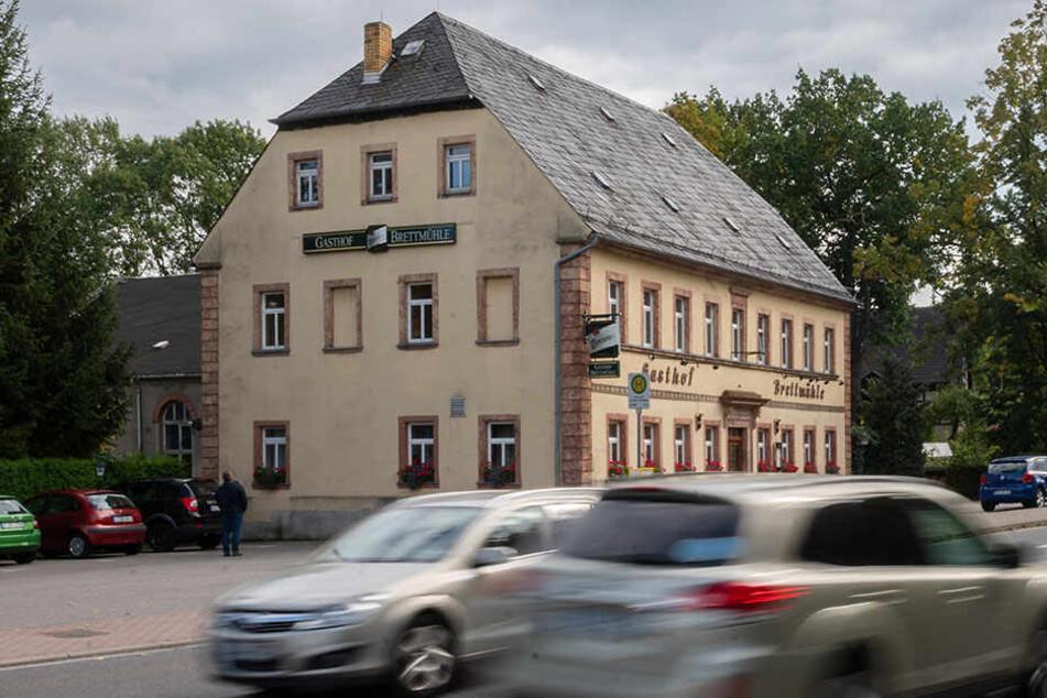 Die Brettmühle an der B169.