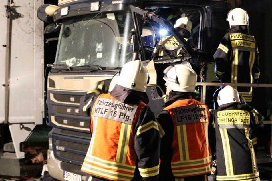Das Führerhaus des Lkws wurde durch die Detonation komplett zerstört.