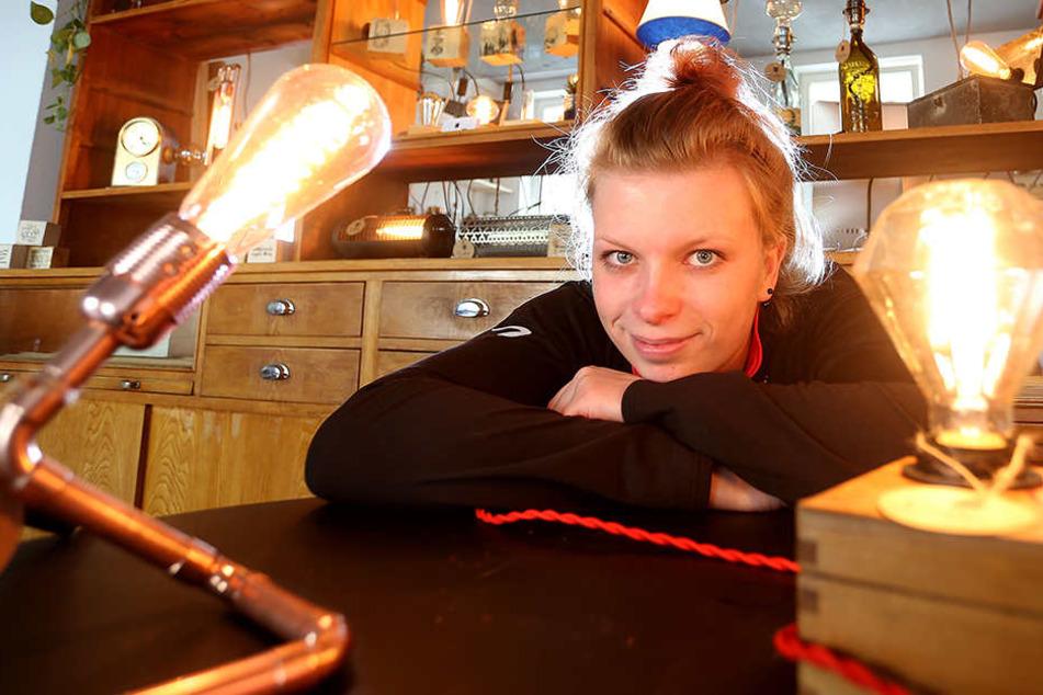 Sie macht aus Müll Lampen: Studentin eröffnet eigenen Laden
