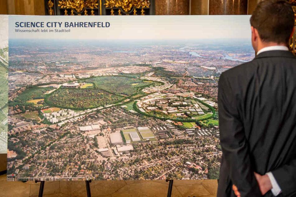 """Im Bezirk Altona soll ein großflächiger Wissenschaftspark entstehen, die """"Science City Bahrenfeld""""."""