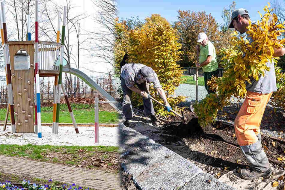 Chemnitz: Anwohnern dauern die Arbeiten zu lange: Hier wird die Landesgartenschau abgebaut