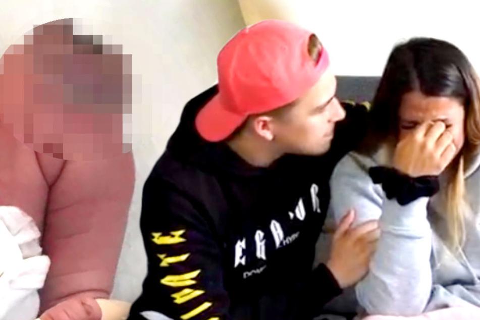 Tumor am Knie: BTN-Stars Jenefer und Matze zeigen Schock-Fotos von Baby Milan