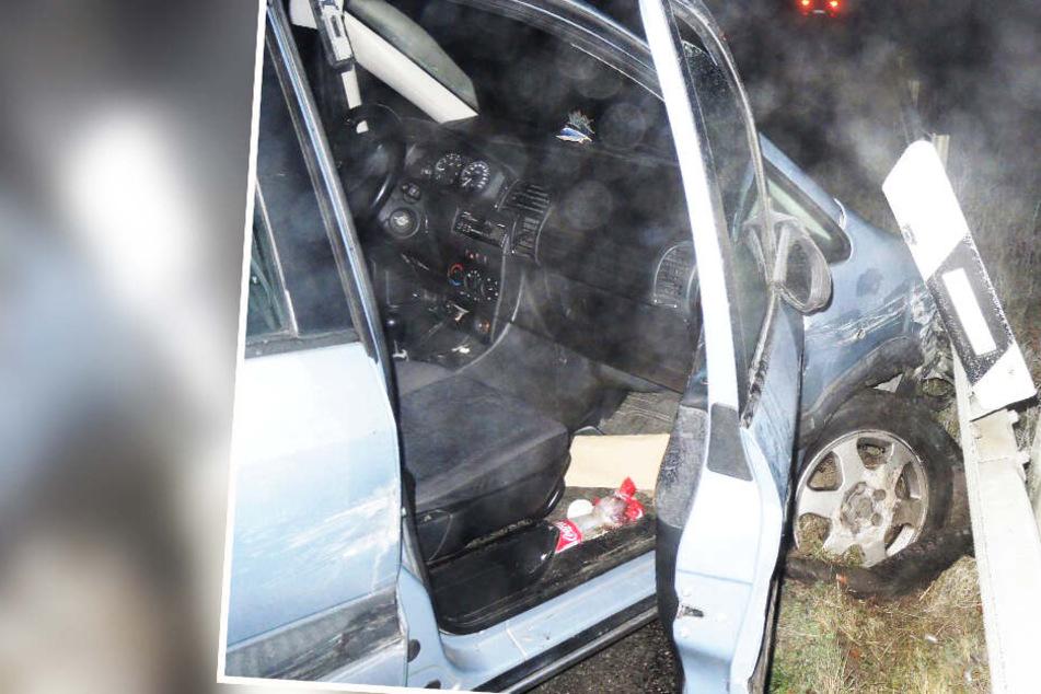 Schlimmer Unfall auf der Autobahn: Suff-Fahrer mit über 2 Promille intus schießt junge Frau von der Piste