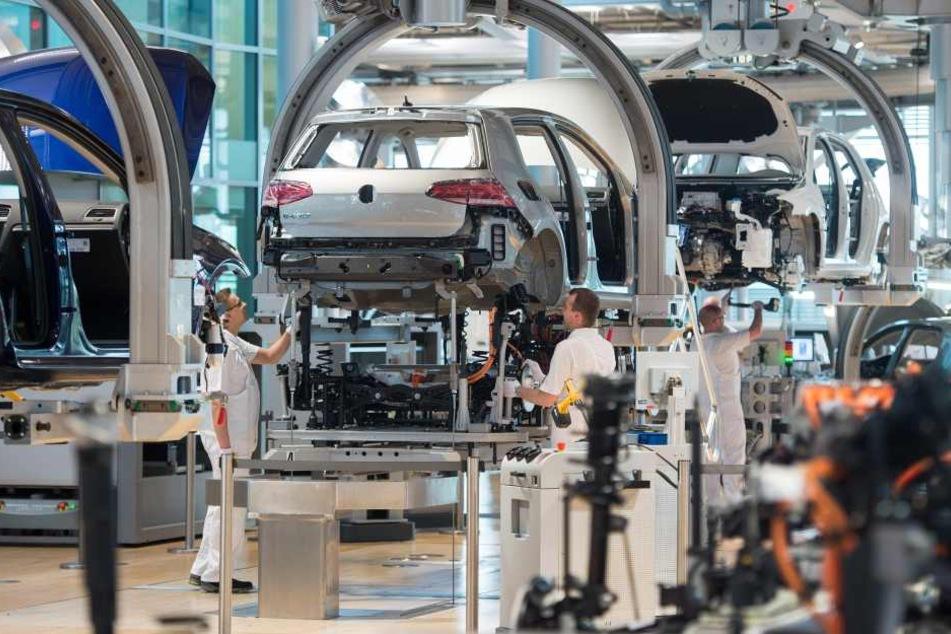 In der Gläsernen Manufaktur werden täglich 35 e-Golf gefertigt.