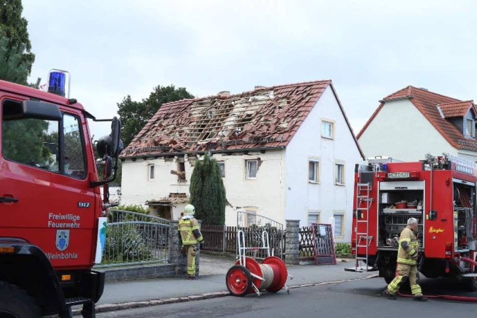 Im Inneren eines Einfamilienhauses kam es am Samstagmorgen zu einer Explosion.