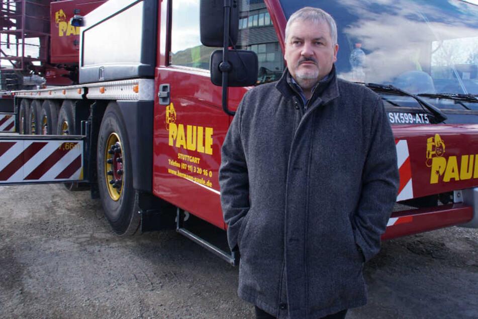 In seiner Firma haben die Diebe zugelangt: Rainer Schmid, Geschäftsführer der Hermann Paule GmbH.