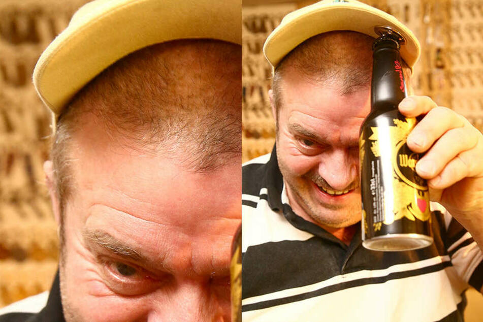 Ja, er hat einen an der Mütze - einen Flaschenöffner, versteht sich.