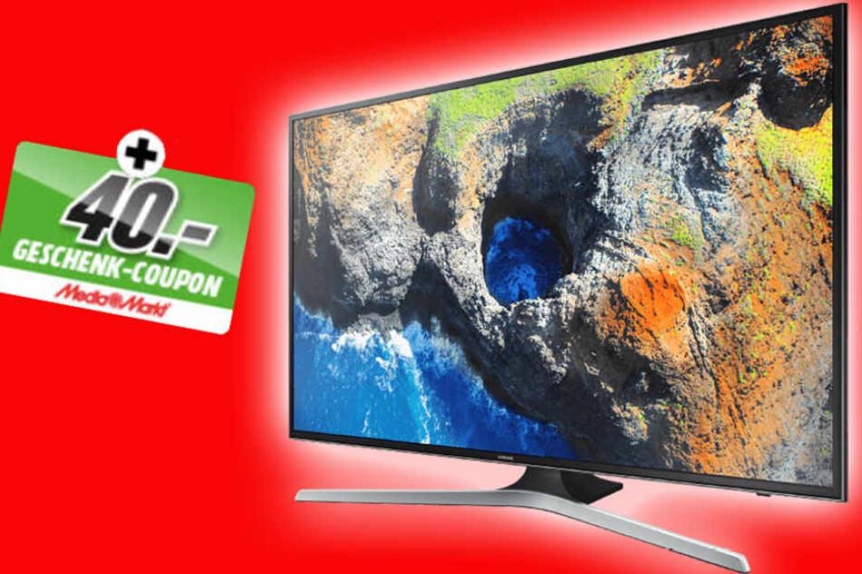 Nur 589 Euro kostet dieser Samsung-Fernseher und einen 40 Euro-Coupon gibt's dazu.