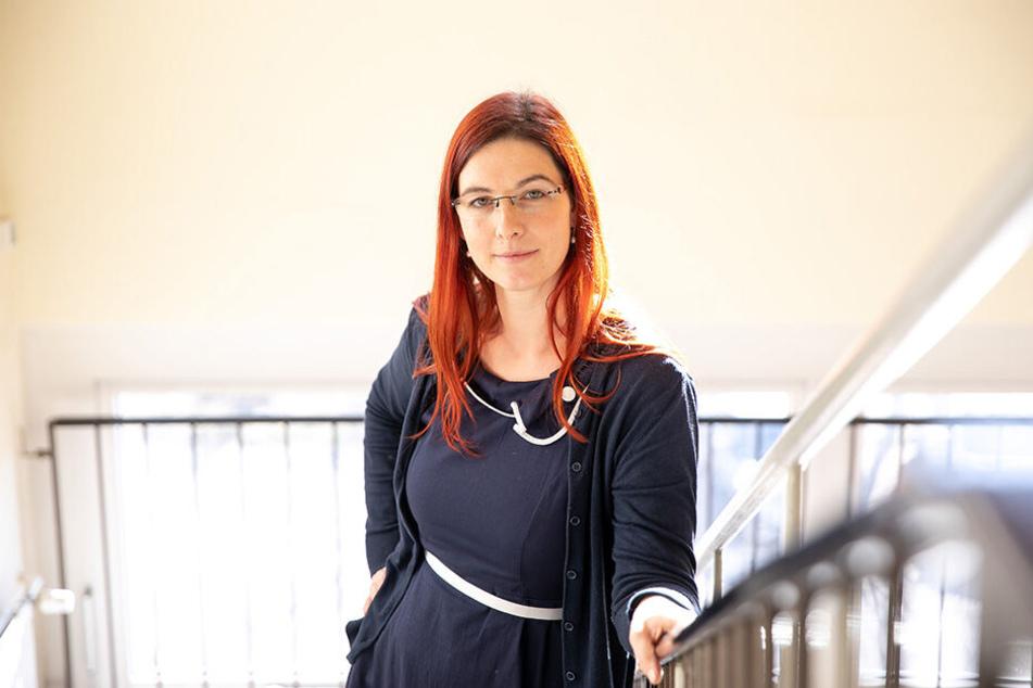 Direktorin Anna-Maria Feig (37) hatte auf die Probleme in ihrer Schule aufmerksam gemacht.
