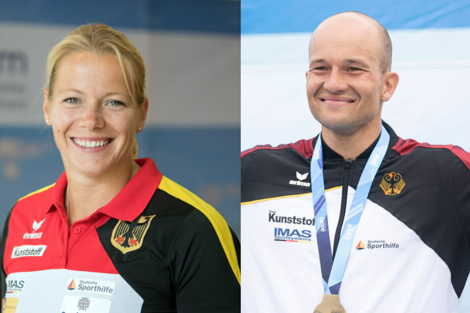 """Tina Dietze (31) holte sich den Preis als """"Sportlerin des Jahres"""", Franz Anton (29) wurde zum """"Sportler des Jahres"""" gewählt."""