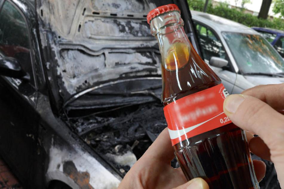 Der Mann griff kurzerhand zur Cola-Flasche und löschte das Feuer. (Symbolbild)