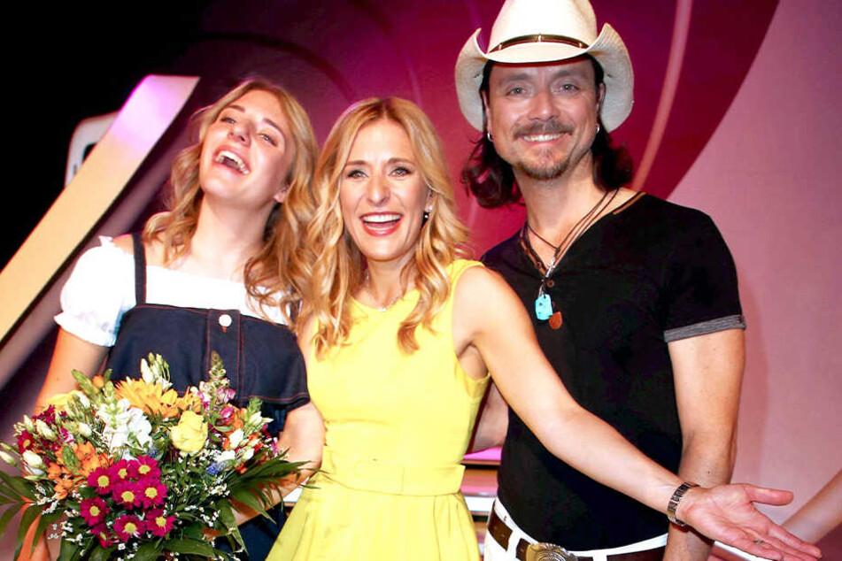 Stefanie Hertel (40), ihr Mann Lanny Lanner (44) und Tocher Johanna Mross (17) haben eine Familien-Band gegründet.