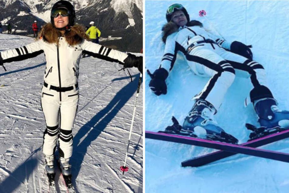 Fans besorgt: Katja Burkard beim Skifahren gestürzt