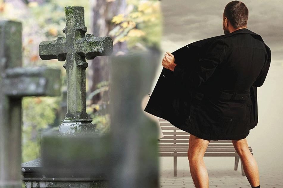 Mann hält Frau (29) auf Friedhof Penis ins Gesicht und erlebt sein blaues Wunder