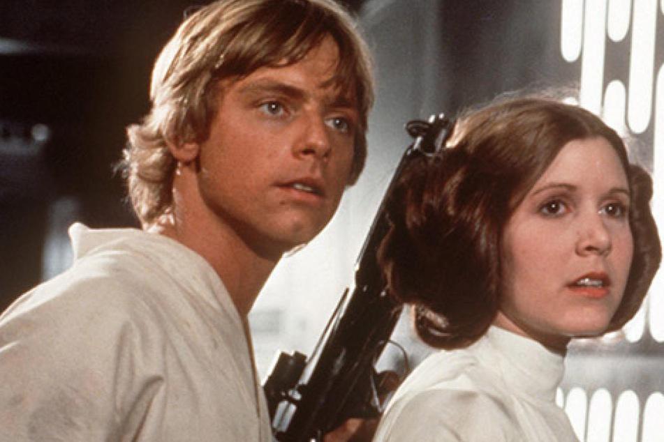 """Luke Skywalker und Prinzessin Leia Organa in """"Star Wars: Die Rückkehr der Jedi-Ritter""""."""