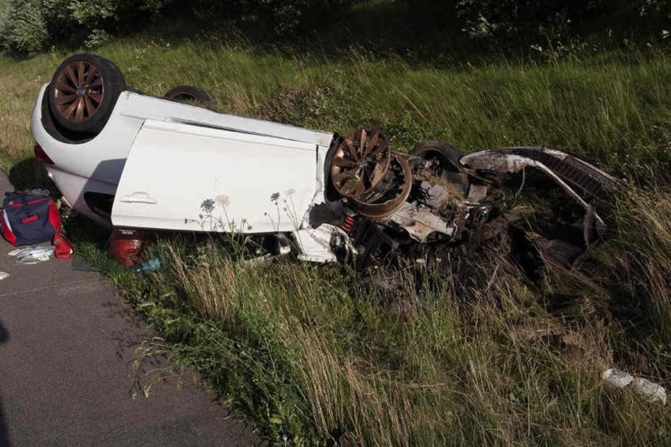 Sieben Verletzte bei Unfall auf A4