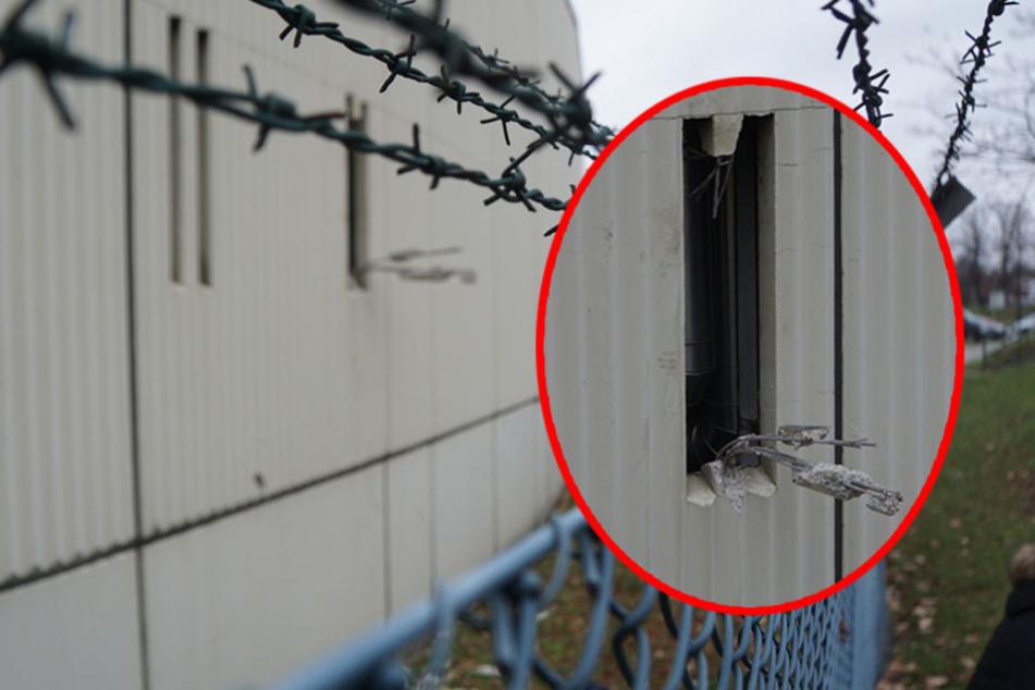 Durch den Schlitz der Lüftungsanlange konnten die Häftlinge fliehen.