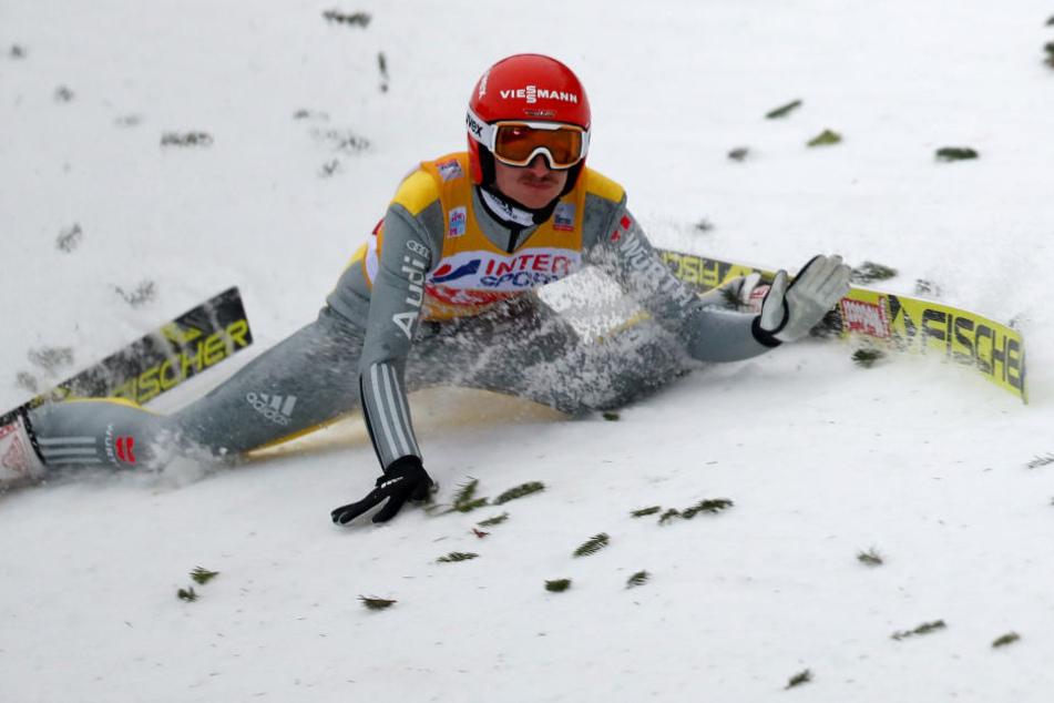 Nach einem Sturz in Innsbruck hat Richard Freitag noch mit Hüftproblemen zu kämpfen.