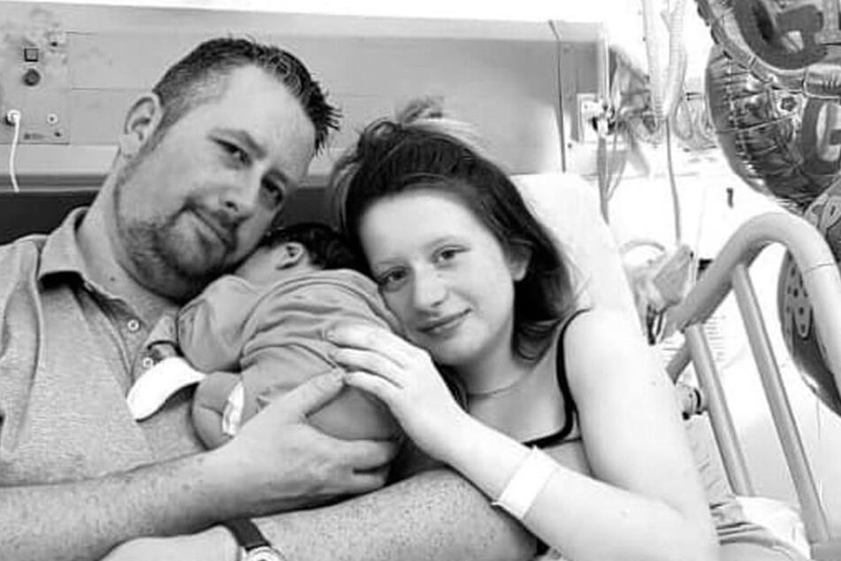 Beth wenige Tage nach der Geburt ihrer Tochter Maizie.