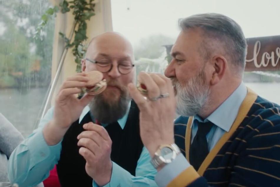 Burger-Party zur Hochzeit.
