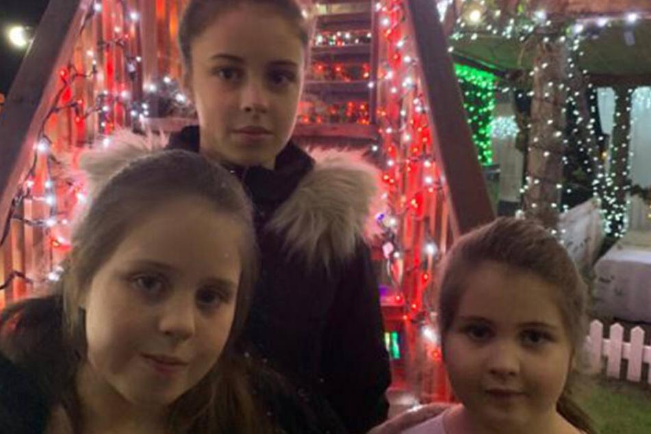 Die drei jüngsten Kinder von Helen und Stephan: Jessica, Ellie und Sophie.