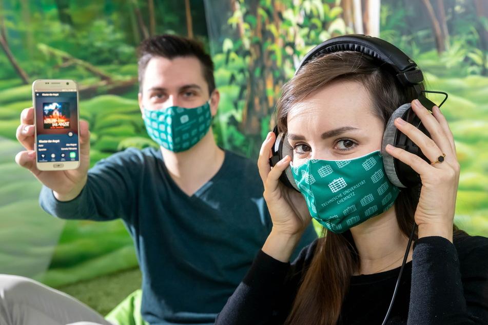 """Die kreativen Köpfe hinter """"Audory"""": Max Rose (23, Geschäftsführer und Programmierer) und Pauline Schneider (27, Produktionsleitung)."""