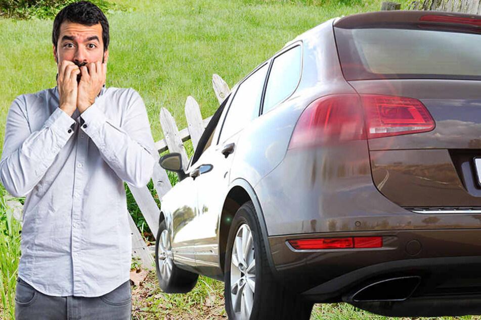 So ähnlich könnte es wohl ausgesehen haben, als das Auto der Zivilbeamten im Zaun landete. (Symbolbild)