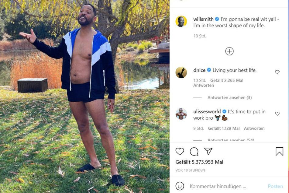 Will Smith (52) gesteht, dass er ein Pläuzchen hat.